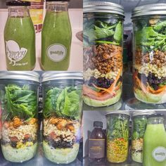 Back on the meal prep wagon. Salads in a jar is my new favourite lunch as they stay fresh for 5-6 days and green smoothies are also back on the rotation. by mintandgin