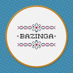 The Big Bang Theory Quote - Bazinga - Cross Stitch PDF Pattern Download. $3.00, via Etsy.