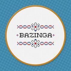The Big Bang Theory Quote - Bazinga - Cross Stitch PDF Pattern Download. $3.00, via Etsy.