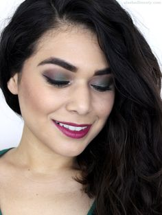 Jewel tones are my favorite for holiday makeup looks. Here's one I've been wearing using the ULTA Metals Eye Shadow Palette: a green smoky eye with a bold lip. Click through for the video tutorial!