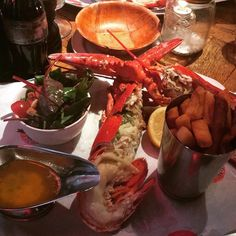 Nom Nom Nom // 14/03/16 // #Lobster #BigEasy #Chips #Instafood #London #ukig #Salad #Travel #Discover #DietCoke #tasty by travel_leanne