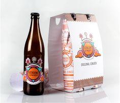 Craft Beer Design _ Genuine Ginger by Almari Carosini, via Behance