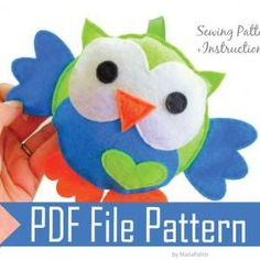 Baby Owl Sewing pattern - P..