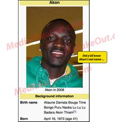 We Were Just MINDING OUR BUSINESS . . . Flipping Through WIKIPEDIA . . . And Then We Came Upon Rapper AKON'S REAL NAME!!!
