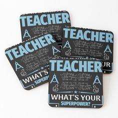 'Teacher Goods' Coasters by Math Teacher, Coasters, My Arts, Art Prints, Printed, Awesome, Shop, Products, Art Impressions
