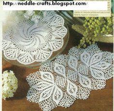 crochet doilies + diagrams