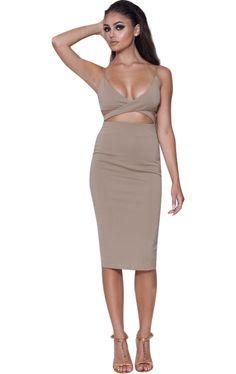 'Iris' Khaki Crossbody Sleeveless Bodycon Dress – Glamour Goddess Boutique https://glamourgoddessboutique.com/product/iris-khaki-crossbody-sleeveless-bodycon-dress/