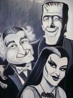 Munsters, oil on canvas.