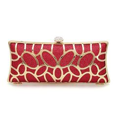 Diamante Clutch Bag in Red Sequin from mobile - US$27.95 -YOINS