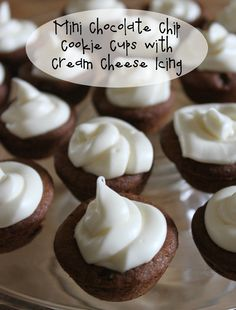 Baking Mini Chocolate Chip Cookie Cups with Cream Cheese Icing + more ideas using #CookieDoughSheets from #NestleTollHouse #ad