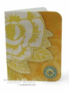 Love card by Guest Designer Sandy Allnock for the Card Kitchen Kit Club using the May 2014 kit