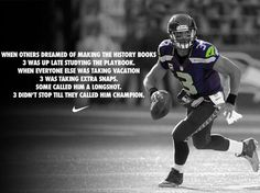Nike Football: Wear number 3. Represent relentless.