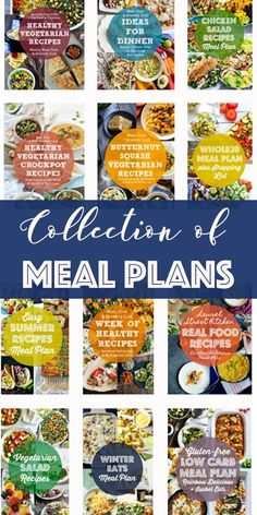 Tired of meal planning? These meal plans with free grocery shopping lists will take the stress out of deciding what meals to make for your family! Check out all sorts of meal plans- collections of recipes from some of your favorite bloggers, salad meal plans, crockpot meal plans, vegetarian meal plans, seasonal meal plans, and more! Easy Vegetarian Dinner, Healthy Chicken Dinner, Easy Summer Meals, Easy Meals, Whole Foods Meal Plan, Easy Meal Plans, Winter Dinner Recipes, Lunch Meal Prep, Make Ahead Meals