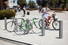 Capitol Bike Racks shown with Aluminum Texture powdercoat