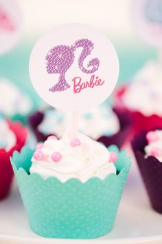 Printables and Party ideas for your own Barbie-themed party by TomKat Studio