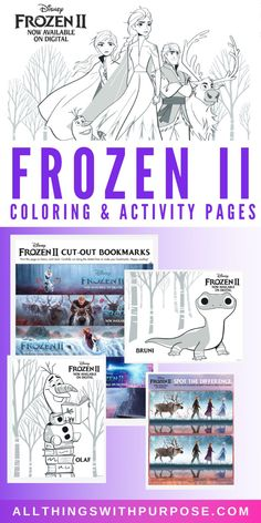 Free Frozen II Printable Coloring and Activity Pages