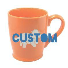 CUSTOM Coffee Mug Orange ceramic  Choose your by BreadandBadger (Home & Living, Kitchen & Dining, Drink & Barware, Drinkware, Mugs, custom sandblasting, personalized, custom engraving, groomsmen gifts, custom coffee cup, custom mug, ceramic mug, sandblasted ceramic, ceramic sandblasting, custom orange mug, orange ceramic, tangerine orange, portland)