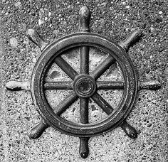 the helm of a ship.