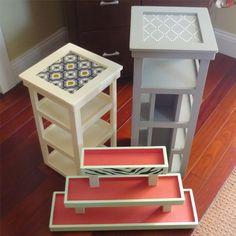CUSTOM ORDERS ~ Nail polish tower, nail polish storage, nail polish table top organizer