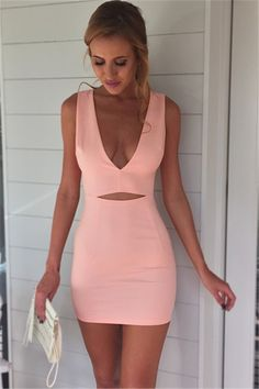 deep v neck dresses, cut out homecoming dresses, pink homecoming dresses, short homecoming dresses