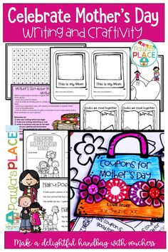 Mother's Day – Craftivity. A gorgeous coupon hand bag with a card is the end result of this task. Mother's Day Coupons, Writing Posters, Writing Strategies, Mothers Day Crafts, Learning Centers, My Mom, Things To Think About, Make It Yourself, How To Plan