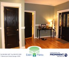 An excellent way to give your interior a brand new modern look, is by painting all the doors of the rooms inside the house black. It makes a stunning statement! And remember to get all your black paint at Painted Ceiling, Black Interior Doors, Black Interior, Interior, Interior Doors Stained, Interior Paint, Doors Interior, Painted Table, Grey Painted Walls