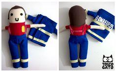 FireMan  #BM #Bombeiro #Fireman #EPI #toscogato #Boneco #toyart