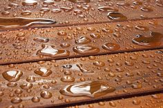 Is your wood deck #waterproof like this? Deep penetrating #silanesiloxane waterproof coating, Wood Sealer can protect your investment. See how: https://rainguard.com/silane-siloxane-waterproofing/