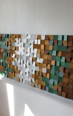 Large Wood Wall Art, 3d Wall Art, Wooden Art, Wall Art Decor, Wood Mosaic, Mosaic Wall, Wood Sculpture, Wall Sculptures, Block Wall