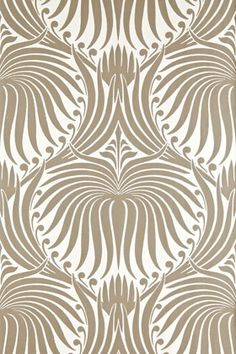Love the visual texture this Farrow and Ball Lotus Wallpaper adds!