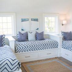 Nantucket Home, Bunk Rooms, Big Girl Rooms, Guest Bedrooms, Beautiful Bedrooms, Home Bedroom, Decoration, Interior Design, Post