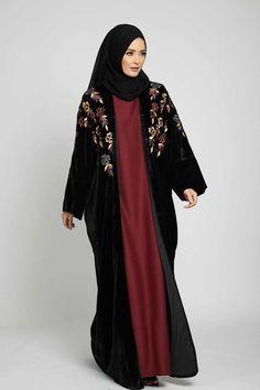 Abayas: Find Open Closed Women's Abayas for Sale Online Dubai Fashion, Abaya Fashion, Fashion Dresses, Islamic Fashion, Muslim Fashion, Mode Kimono, Mode Abaya, Abaya Style, Abaya Designs