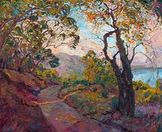 Open Impressionism oil painting of Southern California coastal landscape, for sale by Erin Hanson.