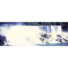 View of American side of Falls Niagara Falls Niagara River Niagara County New York State USA Canvas Art - Panoramic Images (36 x 12)
