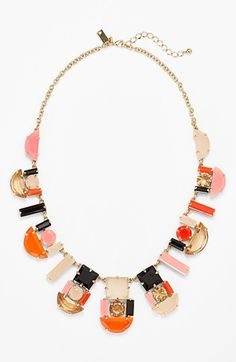 kate spade new york 'mod money' graduated stone necklace available at #Nordstrom