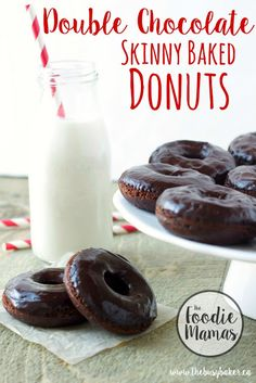 The Busy Baker: Skinny Double Chocolate Baked Donuts #FoodieMamas