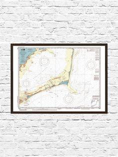 Cape Hatteras North Carolina Map Print