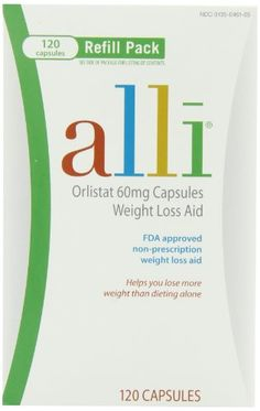 Alli Weight-Loss Aid, Orlistat 60mg Capsules, 120-Count Refill Pack - http://bhealthydiet.com/alli-weight-loss-aid-orlistat-60mg-capsules-120-count-refill-pack/
