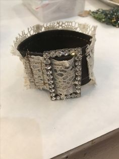 Lean to make Beautiful layered leather cuffs !! Lots of layers of leather and vintage ephemera ! Soldered , letter stamped ! Vintage lace ! Rhinestones !  Www.terribrushacademy.com