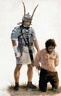 """Optio romano con prigioniero, età flavia, I secolo dC""                                                                                                                                                                                 Más"