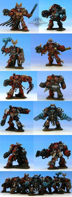 fairly nice Space Hulk Marine group. A little too much chalkyness on the blue glow.