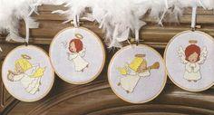 Angel Ornaments - Laure Fontaine (designer) - maximum stitch count 55w  x 52h