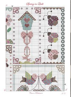 Spring free cross stitch pattern part 2