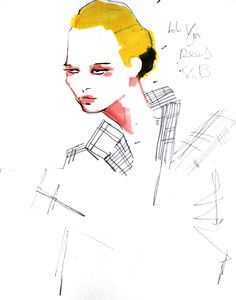 SS13 Ones To Watch, Hellen Van Rees. Illustration by Joshua Osborn
