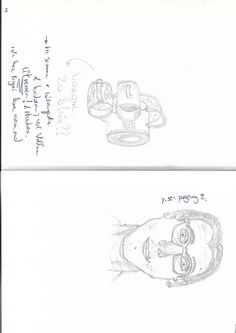 Drawing at the right side of the brain - selfportrait before reading the book