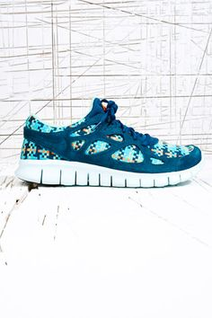 Nike Free Run+ 2 Woven Trainers in Turquoise