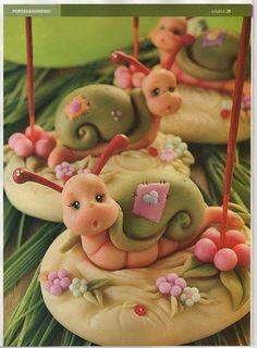 улитка,snail, hlemýžď, escargot, Schnecke, lumaca, caracol - Мастер-классы по украшению тортов Cake Decorating Tutorials (How To's) Tortas Paso a Paso