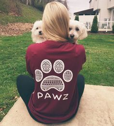 Long Sleeve Maroon Tribal White Print shirt from PAWZ (size Medium!)