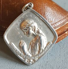 Vintage Spanish Engraved Religious Medal Pendant Catholic Medal Catholic Jewelry Engraved MC CM March 9 September 3 Virgin Mary Prayer by PinyolBoiVintage on Etsy