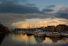 dusk in the Marina, Swansea
